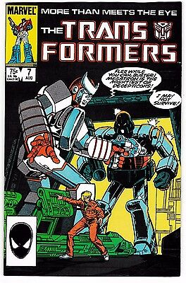 TRANSFORMERS #7 (NM) More Than Meets The Eye! Marvel Megatron Cover! 1985