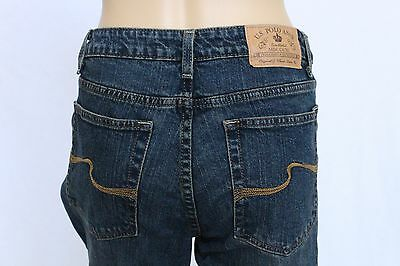 6dd2b59677c NWOT US Polo Assn Womens Jeans Size 12 stretch Boot Cut Mid Rise denim blue