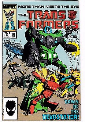TRANSFORMERS #10 (NM-) 1st Appearance of the CONSTRUCTICONS! 1985 Marvel LQQK!