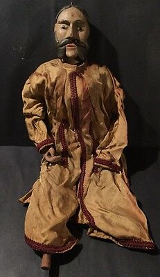 Antique 19th C  Carved Doll Marionette Mannequin ROD Puppet
