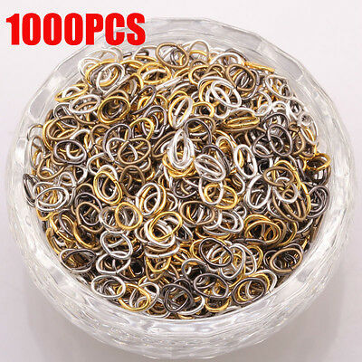 1000PCS 2017 NEWEST Mixed Color Metal Oval Circle Findings Diy Jumpping Ring