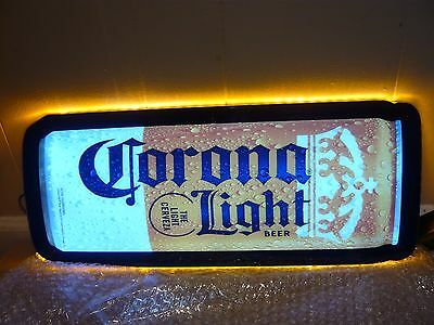 "New Authentic Corona Light beer Can shaped LED bar man cave sign -20 1/2 "" x 8 """