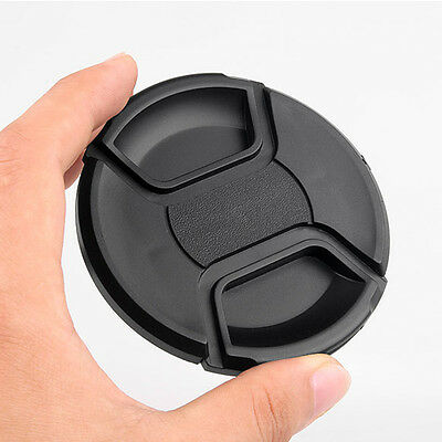 72mm Center Pinch Snap On Front Lens Cap Cover For Canon Nikon Sony with string