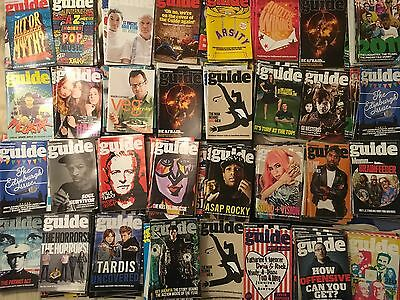 Large Job Lot Over 300 Guardian Guide Magazines 2010/11/12/13/14/15 New Uk Items