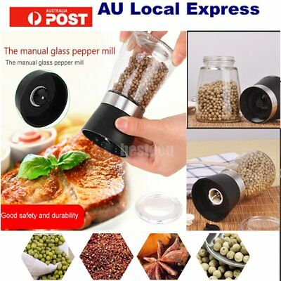 Salt And Pepper Mill Grinder Clear  stainless steel and glass 13CM HOT!