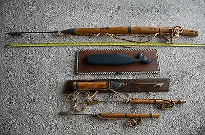 Vintage Antique Authentic Whaling Whale Harpoon Nautical Decor Replica Set