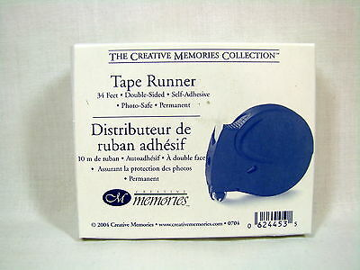 Creative Memories Tape Runner 34ft. Double sided Self Adhesive Photo Safe NIB