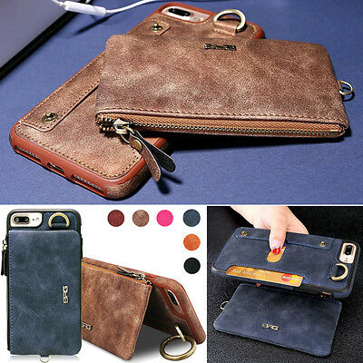 PU Leather Stand Credit Card Flip Back Wallet Case Cover for iPhone 7 6S Plus