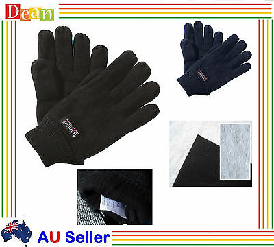 MEN MENS WINTER Thermal Knitted Knit THINSULATE INSULATION FLEECE GLOVES New
