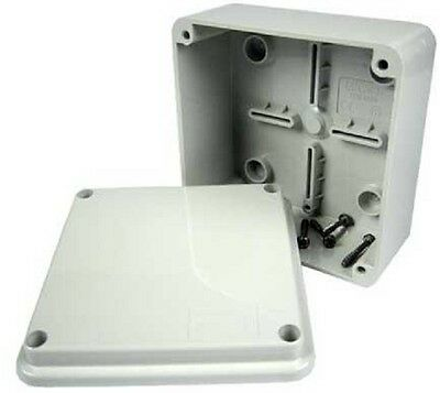 Gewiss PVC ENCLOSURE Surface Mount, Grey Cover IP56- 100x100x50mm Or 120x80x50mm