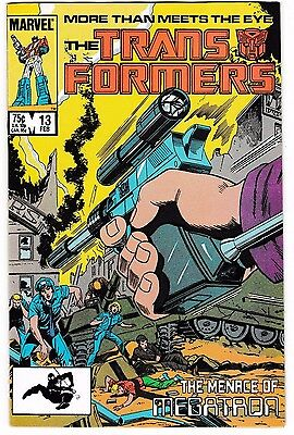 TRANSFORMERS #13 VF/NM Megatron! More Than Meets The Eye! 1986 Copper-Age Marvel