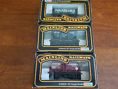 Mainline Goods Wagons X 3 As Shown Very Good Condition Boxed Oo Gauge (Tc)