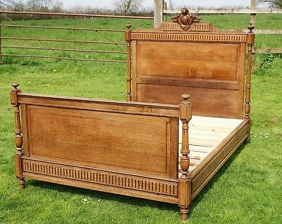 AN  EARLY 20th CENTURY FRENCH OAK 4 foot 6  DOUBLE BED