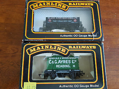 Mainline Goods Wagons X 2 As Shown Very Good Condition Boxed Oo Gauge (Tc)
