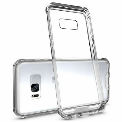 For Samsung Galaxy S8 Plus S8 + Clear Silicone Rubber Bumper Protective Cover