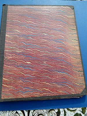 Original Victorian  Large Scrap Book 62 Pages