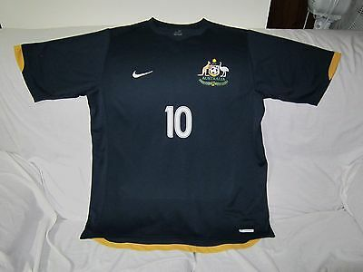 Socceroos Harry Kewell Signed Nike Shirt Jersey Size Large #10