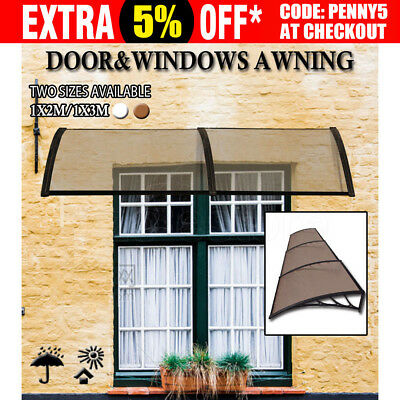 1X 2/3M DIY Window Door Awning Canopy Patio UV Rain Cover Outdoor Sun Shield