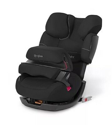 Cybex Silver Pallas-Fix Car Seat Group 1 2 3 Pure Black Black - FREE POSTAGE