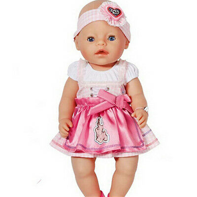 New dress Doll Clothes Wear for 43cm Baby Born zapf (only sell clothes )
