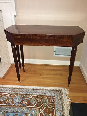 Antique  GAME / SIDE TABLE MAHOGANY FINE AMERICAN FURNITURE HOME DECOR SOLIDWOOD