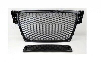 RS4 Grill Audi A4 B8 8K S4 S line Limo Avant Wabengrill Kühlergrill Schwarz #RS4