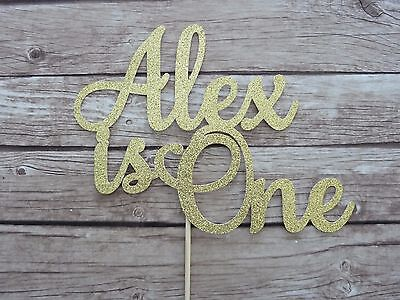 Name and age Cake Topper - Personalised Custom Birthday special occasion topper