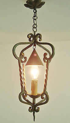 Ultimate Shabby French Chic Wrought Iron Lantern Chandelier Light Chapeau Shade