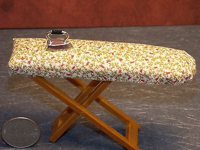Dollhouse Miniature Floral Iron On Fabric Rug 1:12 Cream Oval Oriental Persian
