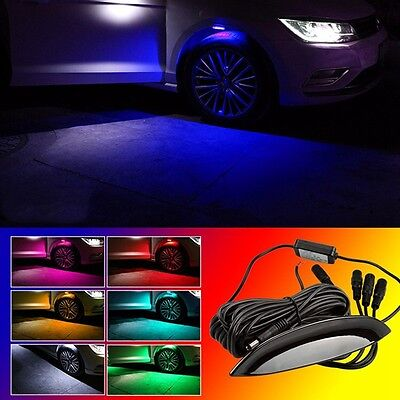 Multi-Color RGB 4Pcs Car Fender Wheel Eyebrow LED Lights Tire Light With Remote