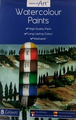 Acrylic Paint 10x12ml Pack, Arts, Crafts, Artist Painting Set Assorted Colour
