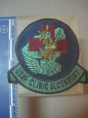 USAF MILITARY PATCH 10th TACTICAL FIGHTER WING CLINIC USAFE RAF ALCONBURY  1980S