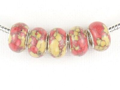 2nds 2 x Brown GOLD STONE SUN SITARA BEAD For  European CHARM BRACELET