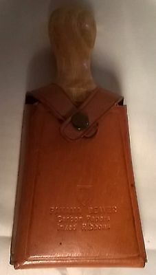Panama Beaver Carbon Paper and Inked Ribbon Shoe Brush w/ Cloth and Leather Case