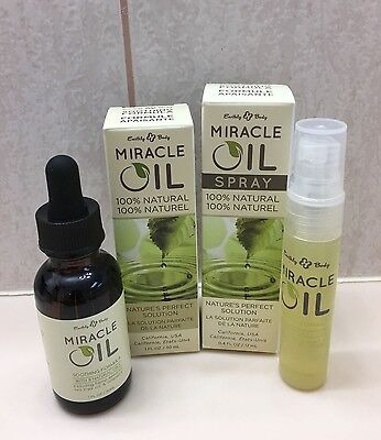 MIRACLE OIL Earthly Body Soothing Healing Antiseptic 1oz with 0.4oz Spray DEAL