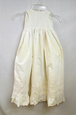 Antique Child Petticoat eyelet lace Victorian vintage baby doll hand embroidery