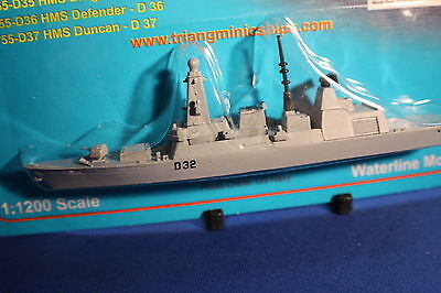 HMS DARING Type 45 Daring Class destroyer on card Triang Minic Ships.D32