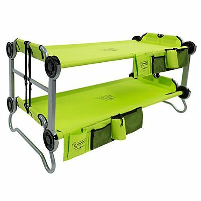 Disc-O-Bed Youth Kid-O-Bunk with Organizers Lime Green