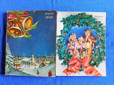 Lot of 2 Christmas Issues of Ideals Magazine December 1951 & December 1954