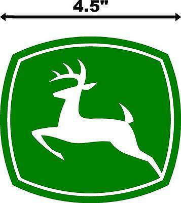"4.5"" John Deere Logo Tractor Decal Window Bumper Vinyl Sticker Green Lawnmower"