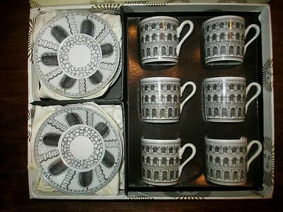 ORIGINAL PIERO Fornasetti Architettura Modernist Antiques RARE BNIB 12 piece set