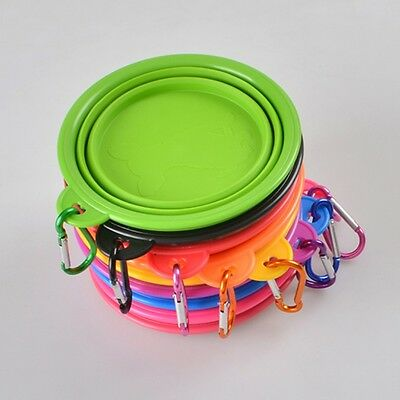Silicone Pet Bowl Travel Outdoor Puppy Cat Feeding Food Drink Collapsible Hot