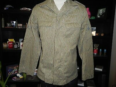 East German Army Military Rain Drop Camo Uniform Shirt Size M 44