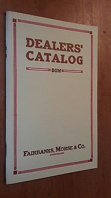 Fairbanks-Morse  Engines Catalog 80M Dealers Catalog reprint