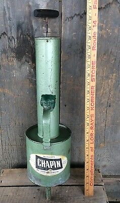 Vintage Large Chapin Green Metal Pesticide Pump Sprayer Fumigator
