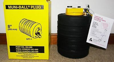 """CHERNE 8"""" MUNI-BALL Pipe Plug with 3"""" hose bypass.NEW STOCK"""