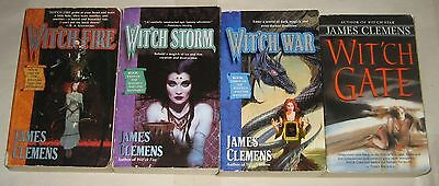 James Clemens lot of 4 fantasy PB's 1-4 in Banned and the Banished quintet
