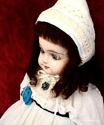 Petite Antique German Papier Maché Doll ~ 1880s ~ 14""