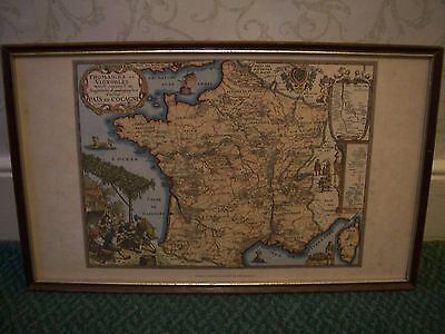 """Vintage Map Cheese Regions in France by Pierre Laforest """"La Cave Du Bourgogne"""""""