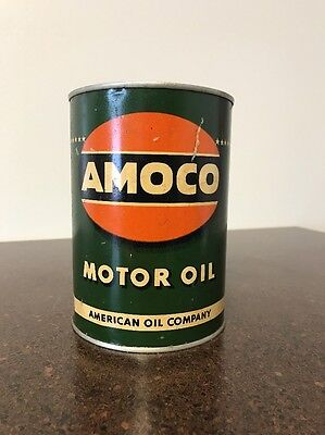 Vintage Amoco One Qt Oil Can Early American Oil Company